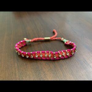 Jcrew friendship bracelet with rhinestones
